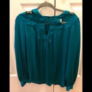 Milly silk blouse shirt long sleeve